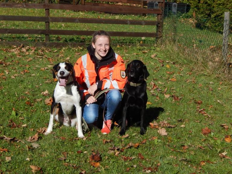 Sandra mit Benni und Linus