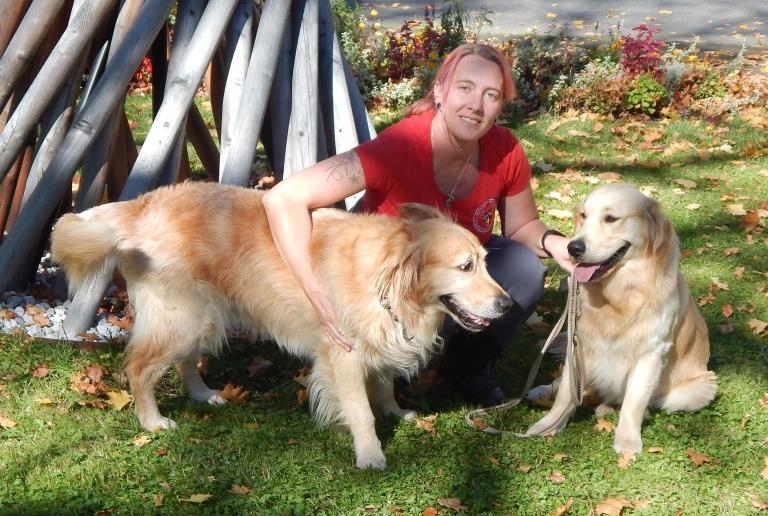 Regina mit Buster und Bodie